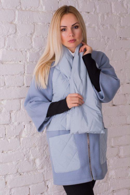 Легкое пальто с шарфом Pang Million 1720
