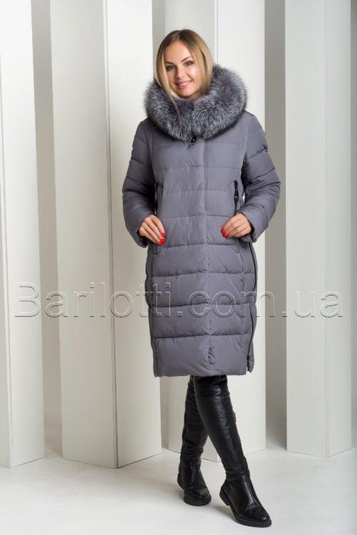 Изящный зимний пуховик с натуральным мехом чернобурки больших размеров Hailuozi 18-28