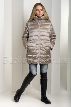 Зимний пуховик больших размеров из итальянской блестящей ткани Snow Owl 18В719М-1