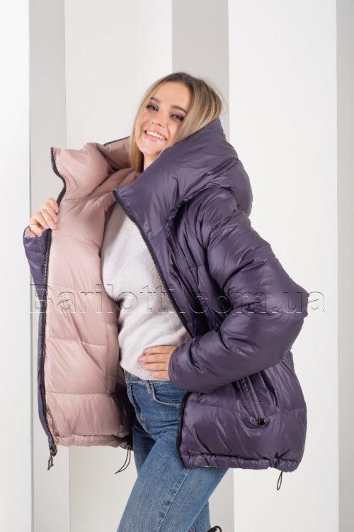 Двусторонняя красивейшая зимняя куртка Button J72-056