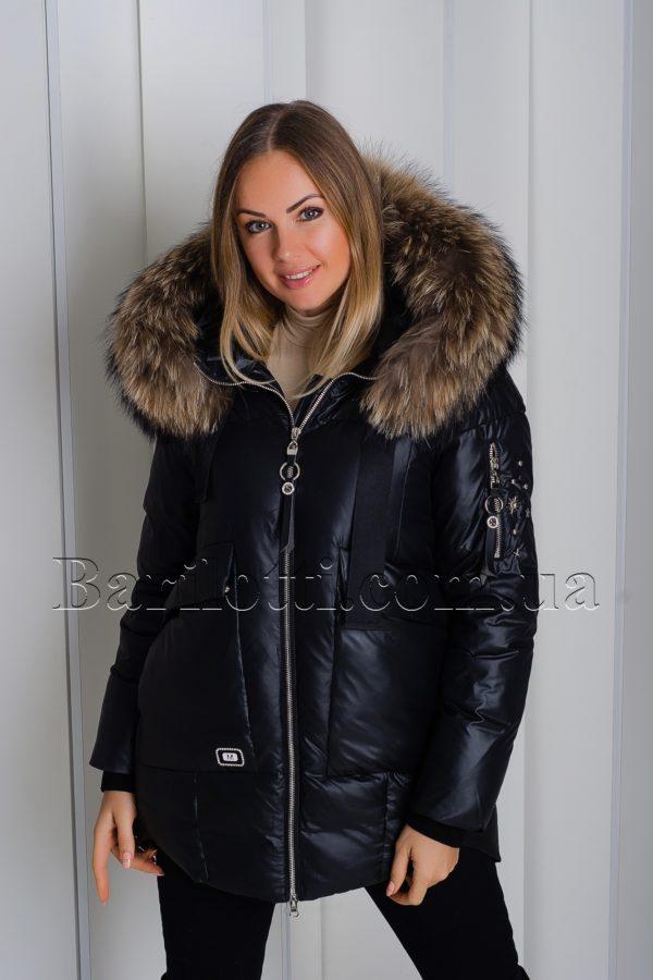 Шикарная куртка с мехом Vo-tarun Y020-818