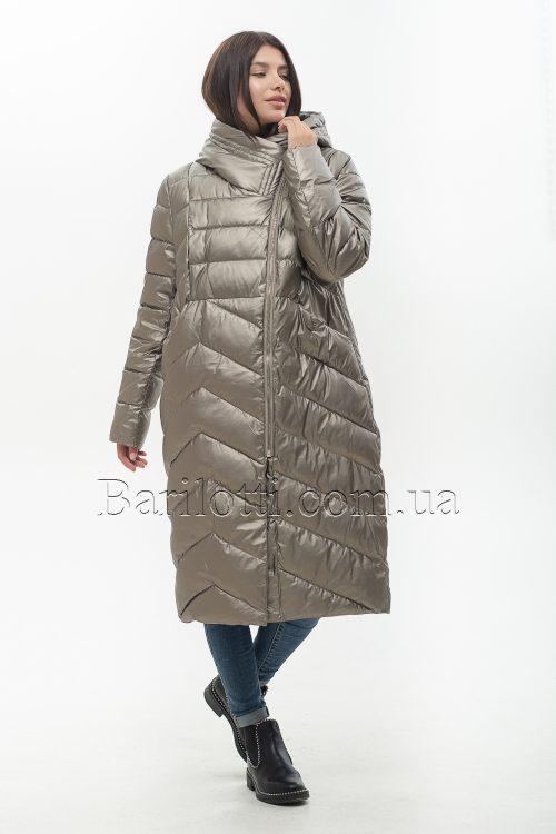 Красивый женский пуховик больших размеров из стрейч-ткани ZLLY 20453