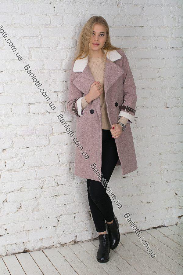 Пальто с мехом 18-744