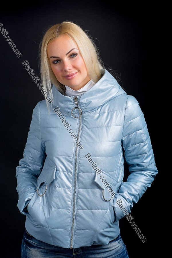Куртка из экокожи ZLYA 18201 (S-XL) Голубой