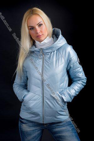 Куртка из экокожи ZLYA 18162 (S-XL) Голубой