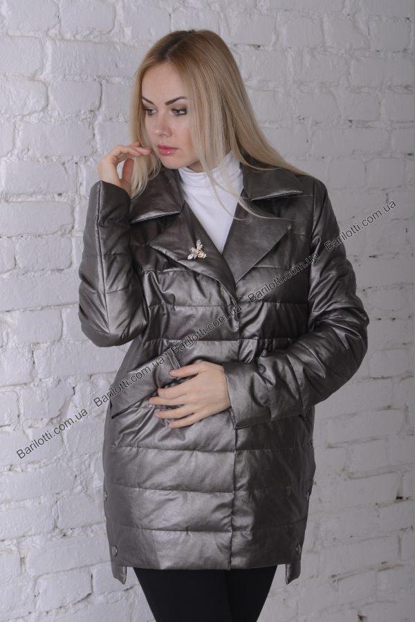 Куртка из экокожи ZLYA 18195 (2XL-5XL) Капучино
