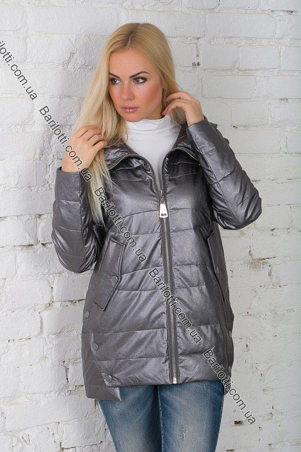 Стильная куртка из экокожи ZLYA 18145 (S-XL) Графит