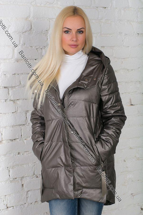 Стильная куртка из экокожи ZLYA 18148 (S-XL) Капучино