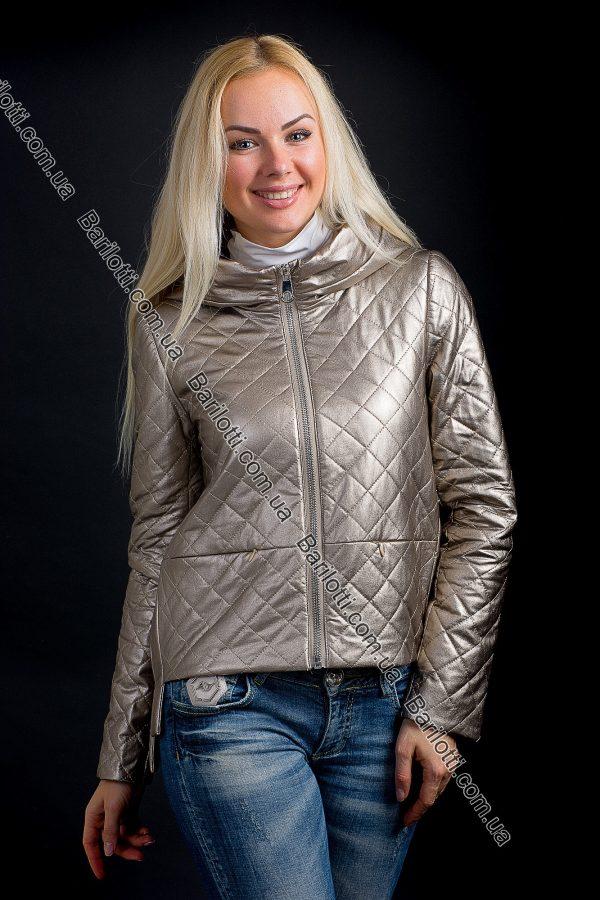 Короткая куртка из экокожи ZLYA 18177 (S-XL) Золото