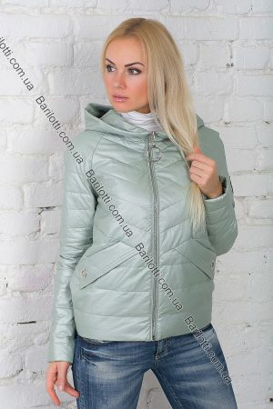 Короткая куртка из экокожи ZLYA 18162 (S-XL) Мята