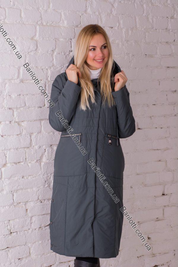 Весеннее пальто Snow Owl 8105 (L-4XL) Изумруд