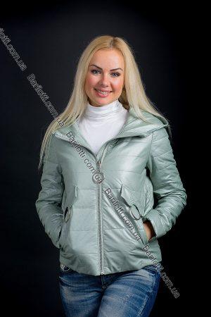 Куртка батал из экокожи ZLYA 18201 (2XL-5XL) Мята