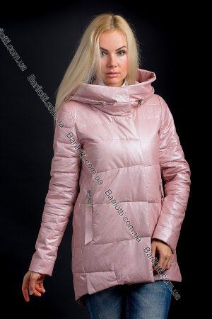 Стильная куртка из экокожи ZLYA 18148 (S-XL) Пудра