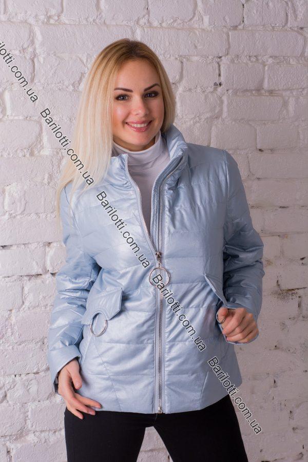 Куртка из экокожи ZLYA 18126 (2XL-5XL) Голубой