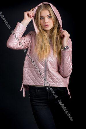 Куртка из экокожи ZLYA 18177 (S-XL) Пудра - S