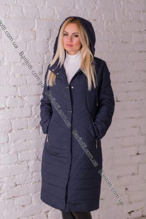 Осенне пальто Snow Owl 828-1 (XL-5XL) Синий