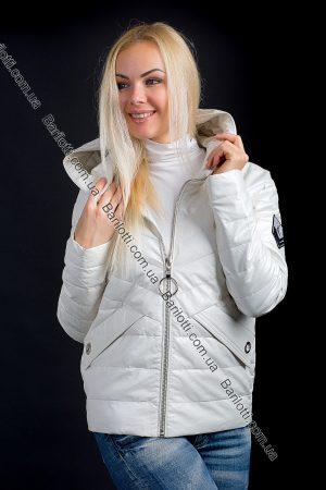Куртка из экокожи ZLYA 18162 (S-XL) Молочный