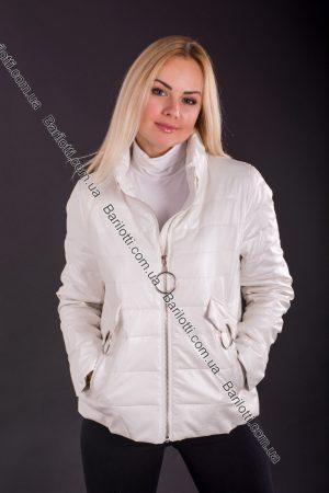 Куртка из экокожи ZLYA 18126 (2XL-5XL) Молочный