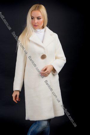 Пальто на пуговице 1769 Молочный