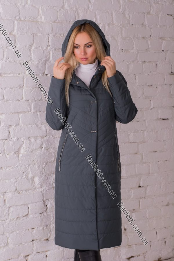 Демисезонное пальто Snow Owl 828-1 (XL-5XL) Изумруд