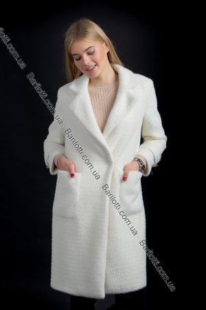 Махровое пальто 6029 Молочный