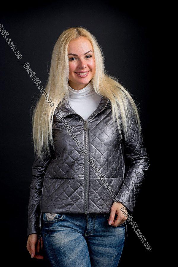 Короткая куртка из экокожи ZLYA 18177 (S-XL) Графит