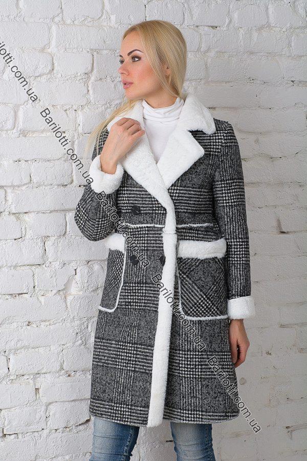 Пальто в клетку 18-462