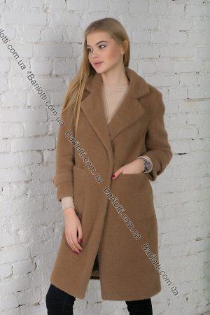 Махровое пальто 6029 Коричневый