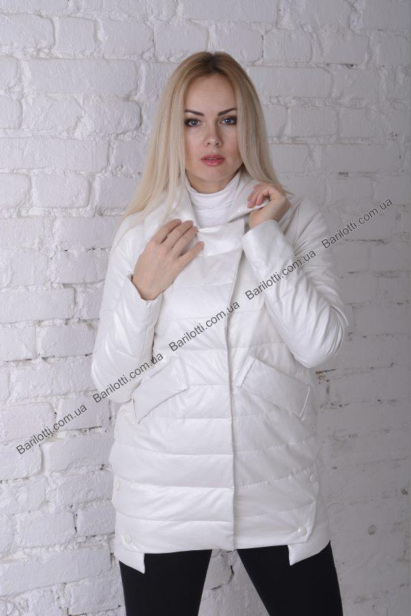 Весенняя куртка ZLYA 18195 (S-XL) Молочный
