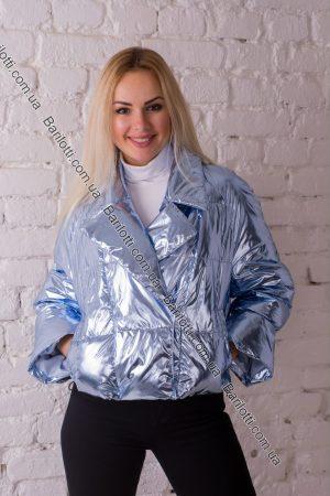 Блестящая куртка 8021