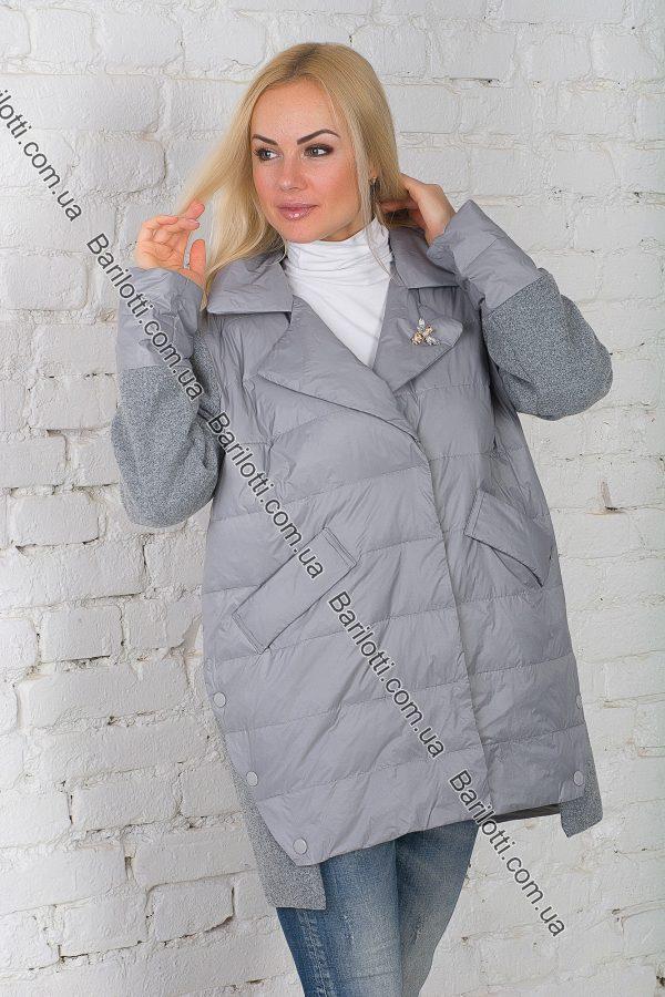 Осенняя куртка ZLYA 18149 (2XL-5XL) Серый