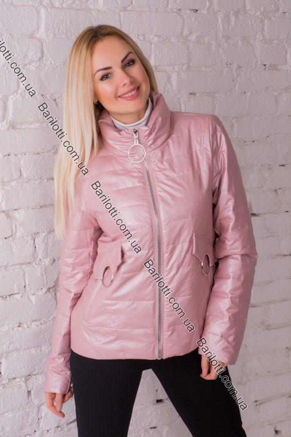 Куртка из экокожи ZLYA 18126 (2XL-5XL) Пудра
