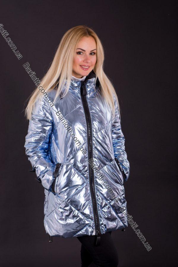 Стильная блестящая куртка 8175