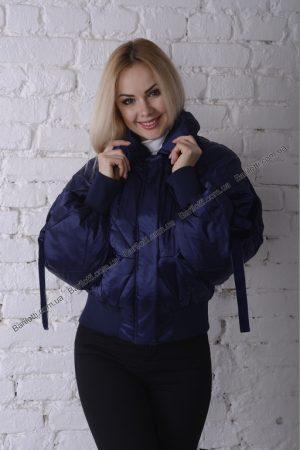 Стильная весенняя куртка 8007 Синий